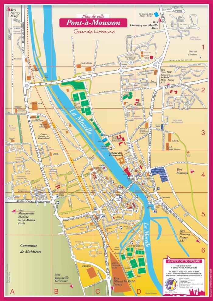 Tourisme Pont 224 Mousson Plan De Ville